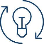 Lightbulb icon depicting Insight Generation text